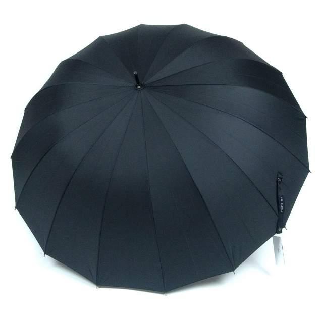 Зонт-трость мужской полуавтоматический Три Слона 1600-0088 черный