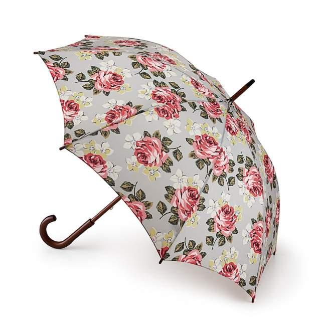 Зонт-трость женский механический Fulton L541-3143 серый