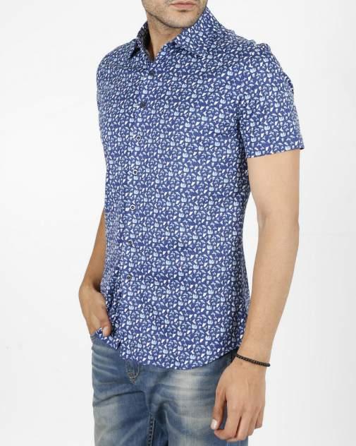 Рубашка мужская Enrico beleno GD30300070 синяя 4XL