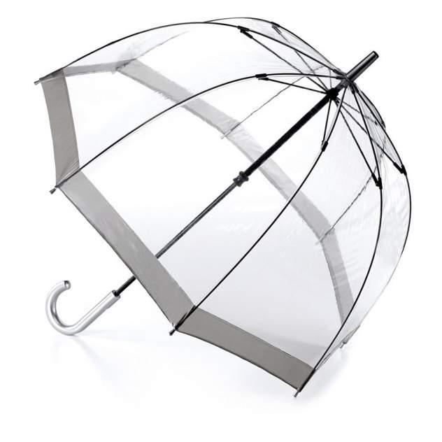 Зонт-трость женский механический Fulton L041-03 серый