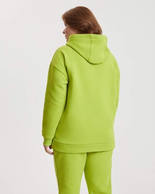 Худи женское BARMARISKA Поп-Арт зеленое 52-54