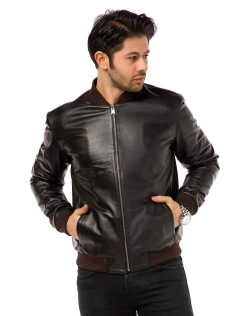 Кожаная куртка мужская Mondial E12 коричневая 56 EU