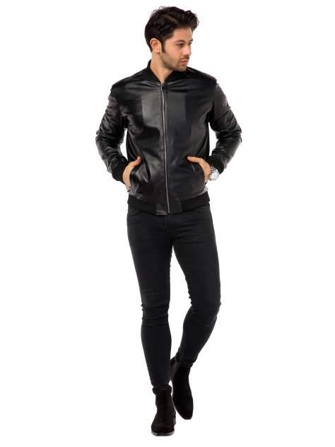 Кожаная куртка мужская Mondial E12 черная 52 EU