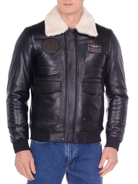 Кожаная куртка мужская Mondial DK1083 черная 52 EU