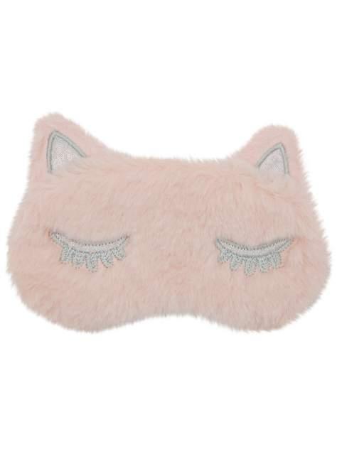 Маска для сна плюшевая Кошечка Warm Dreams розовая