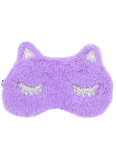 Маска для сна плюшевая Кошечка Warm Dreams фиолетовая