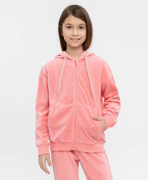 Толстовка для девочек Button Blue, цв. розовый, р-р 158