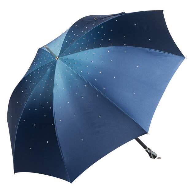 Зонт-трость женский механический Pasotti Swarovski Blu голубой/синий