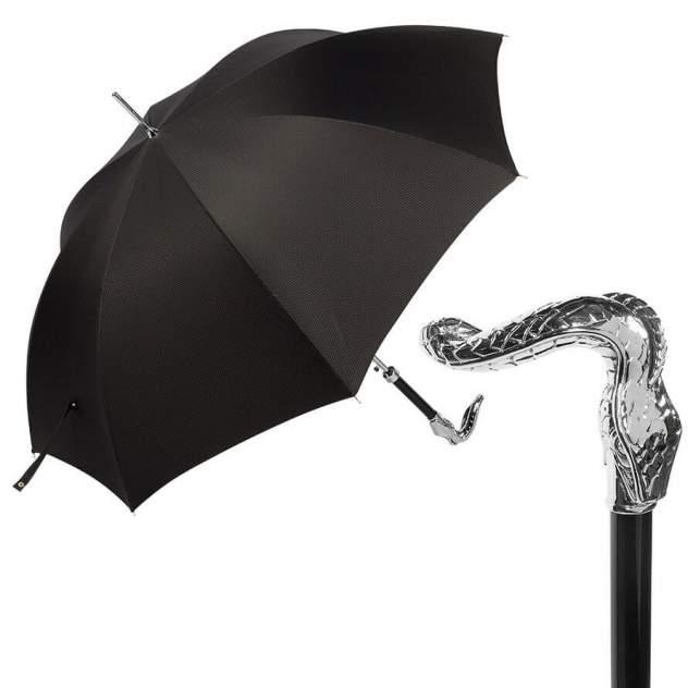 Зонт-трость мужской полуавтоматический Pasotti Sempia Silver Niagara черный
