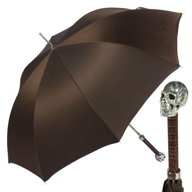 Зонт-трость мужской полуавтоматический Pasotti Capo Pelle Oxford Marrone коричневый