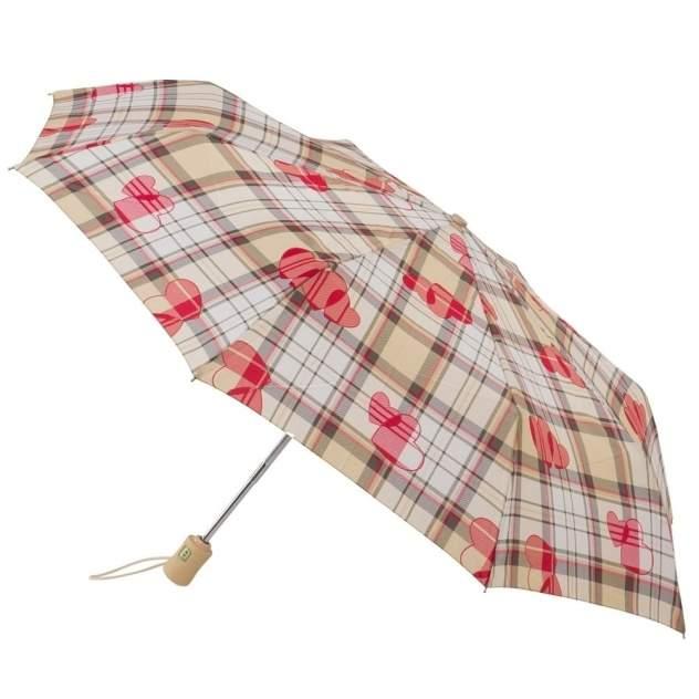 Зонт складной женский автоматический Fulton J346-2315 бежевый