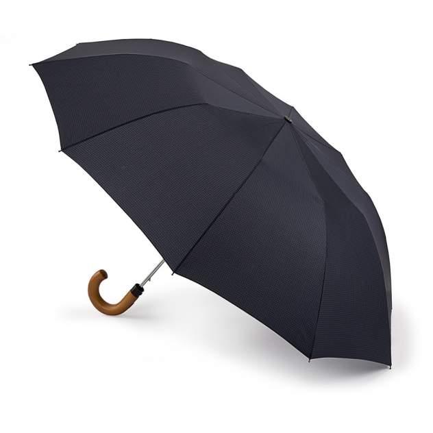 Зонт складной мужской полуавтоматический Fulton G857-3560 черный/синий