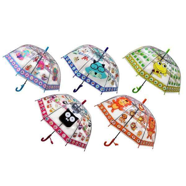 Прозрачный зонт Shantou Gepai Веселые герои со свистком, 50 см