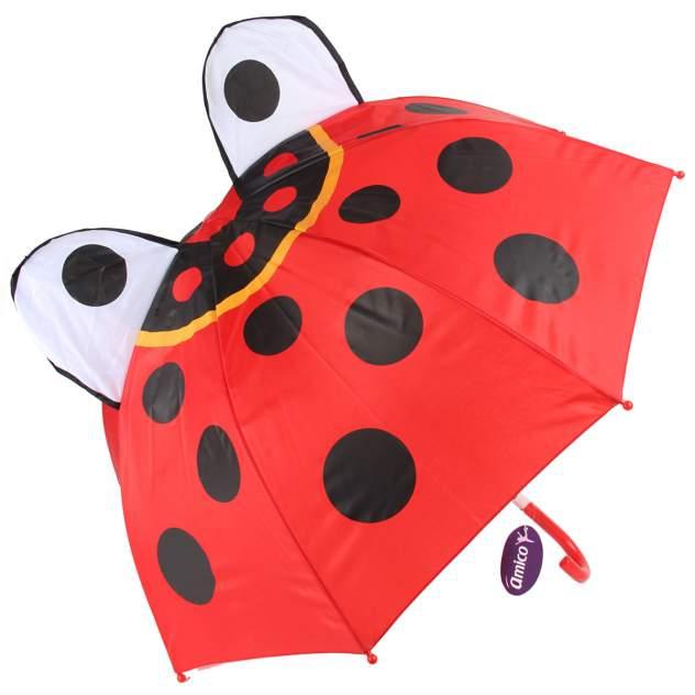 Зонт-трость детский Ami&Co Божья коровка, длина 60 см/диаметр 73 см