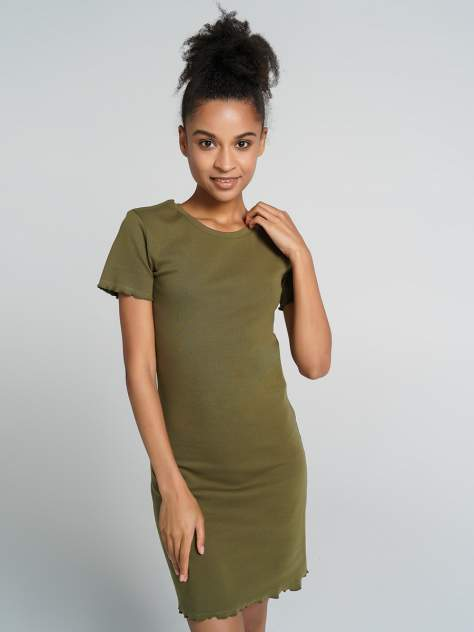 Платье-футболка женское ТВОЕ 72324 зеленое L