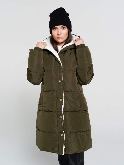 Пуховик-пальто женский ТВОЕ A6556 зеленый S