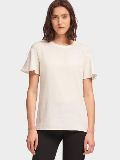 Блуза женская DKNY P8JA7DVJ/IVYL белая L