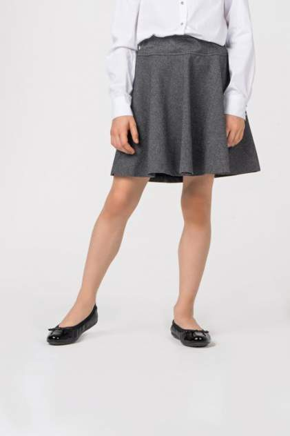 Юбка для девочки Gulliver, цв.серый, р-р 122