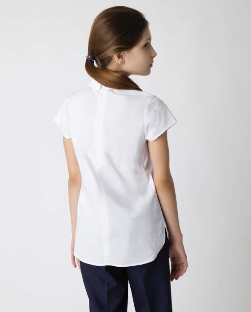 Белая блузка с коротким рукавом Gulliver, модель 220GSGC2211, р. 152