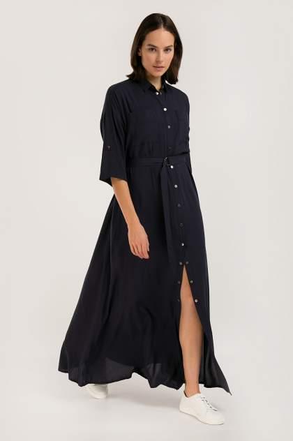 Платье женское Finn-Flare S20-120107 синее XL
