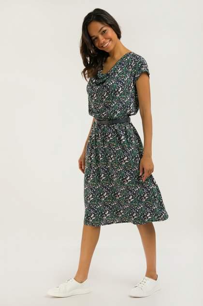 Платье женское Finn-Flare S20-12051 синее 3XL