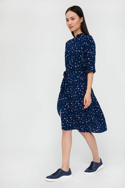 Платье женское Finn-Flare S20-11040 синее 3XL