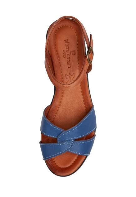 Босоножки женские Pierre Cardin TR-HH-6215 голубые/коричневые 37 RU