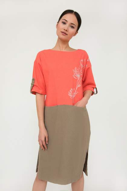 Платье женское Finn-Flare S20-12028 розовое 3XL