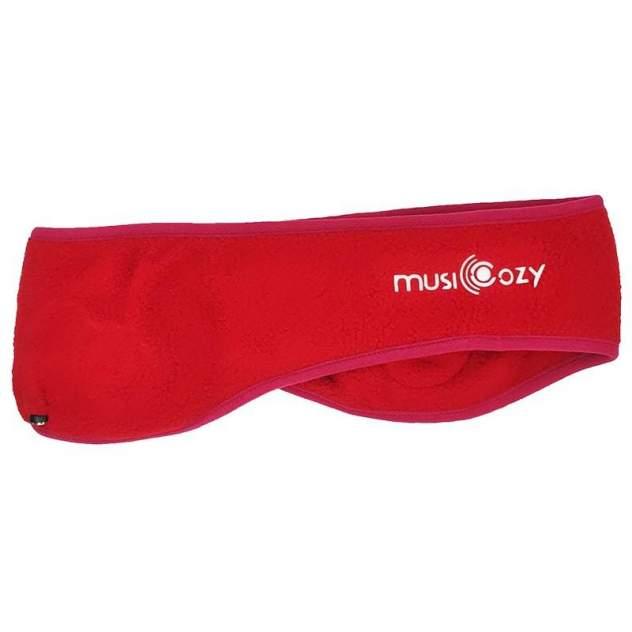 Повязка со встроенной стерео-гарнитурой + bluetooth MusiCozy red размер M