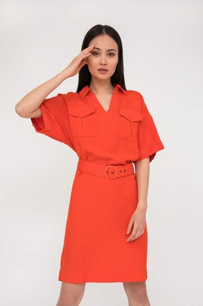 Платье женское Finn-Flare S20-12002 красное 3XL