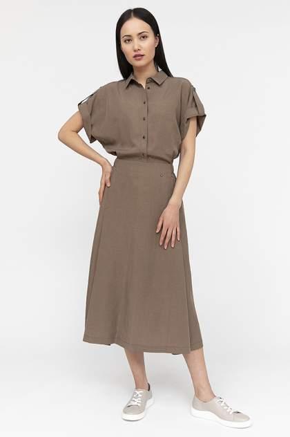 Платье женское Finn-Flare S20-12015 коричневое 3XL