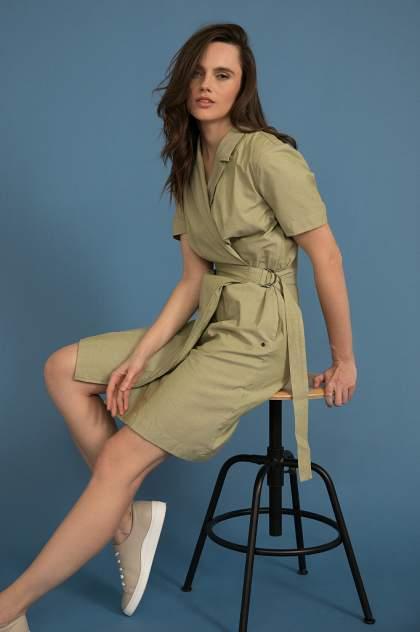 Платье женское Finn-Flare S20-32026 зеленое XS