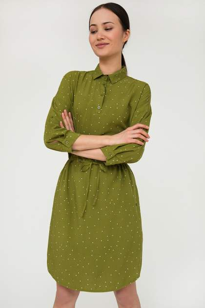 Женское платье Finn Flare S20-32028, зеленый