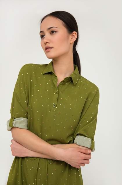 Платье женское Finn-Flare S20-32028 зеленое L