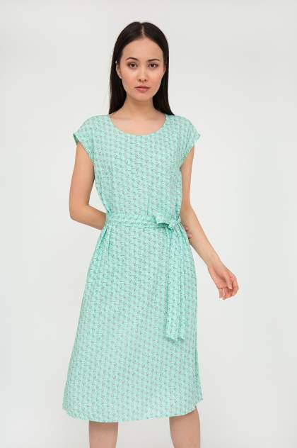 Платье женское Finn-Flare S20-11060 зеленое 3XL
