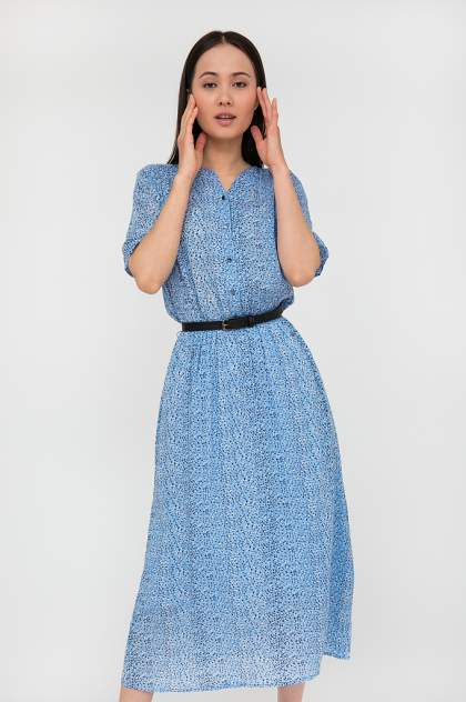 Платье женское Finn-Flare S20-12093 голубое 3XL