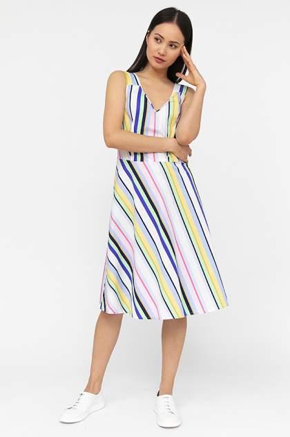 Платье женское Finn-Flare S20-14007 голубое XL