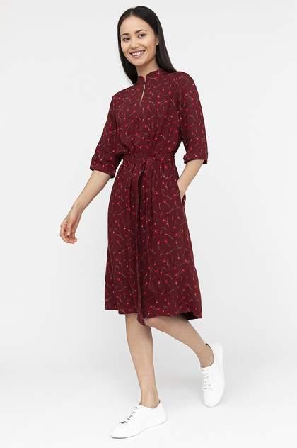Платье женское Finn-Flare S20-11040 красное XL