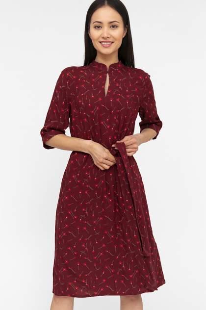 Платье женское Finn-Flare S20-11040 красное 3XL