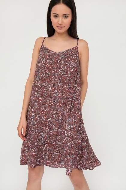 Платье женское Finn-Flare S20-110135 красное XL