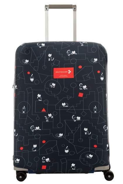 Чехол для чемодана Routemark Коты и порядок, синий