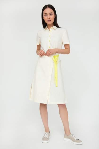 Платье женское Finn-Flare S20-32041 бежевое XL
