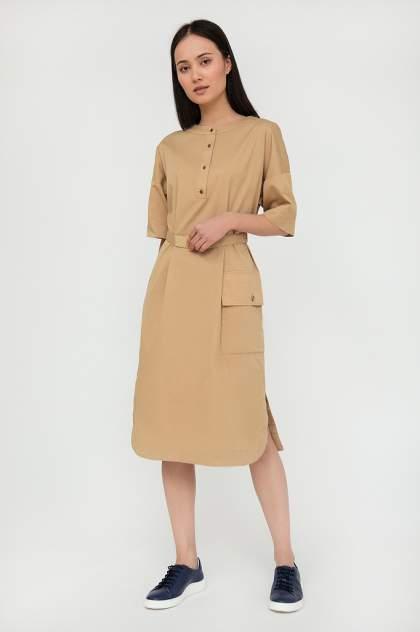 Платье женское Finn-Flare S20-12017 бежевое S