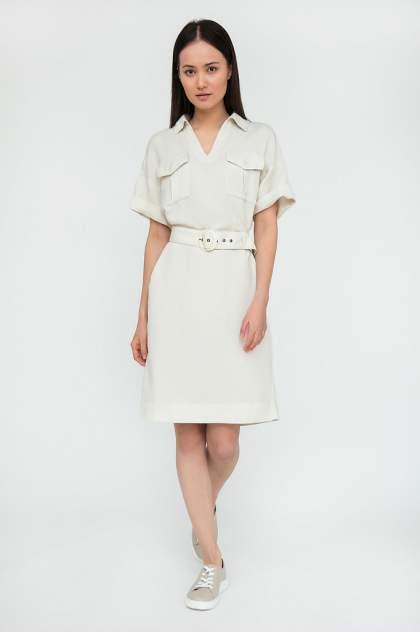 Платье женское Finn-Flare S20-12002 бежевое 3XL