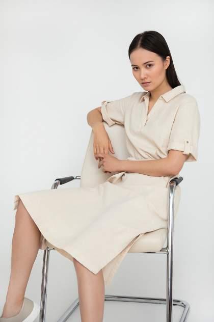 Платье женское Finn-Flare S20-14055 бежевое XL