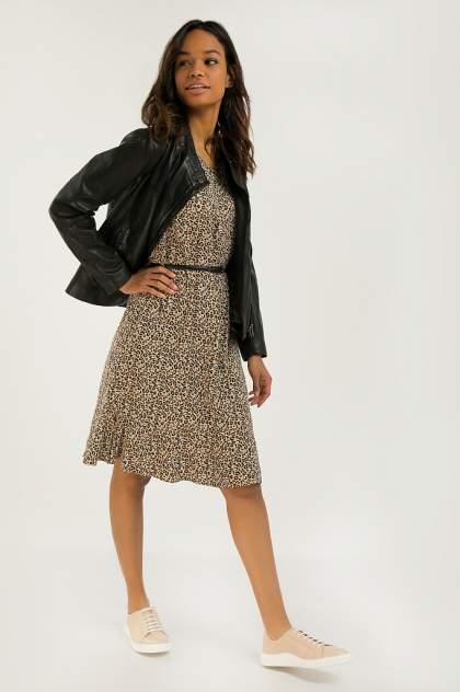 Платье женское Finn-Flare S20-12099 бежевое L