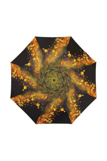 Зонт складной женский автоматический ZEST 23846-9053 черный/желтый