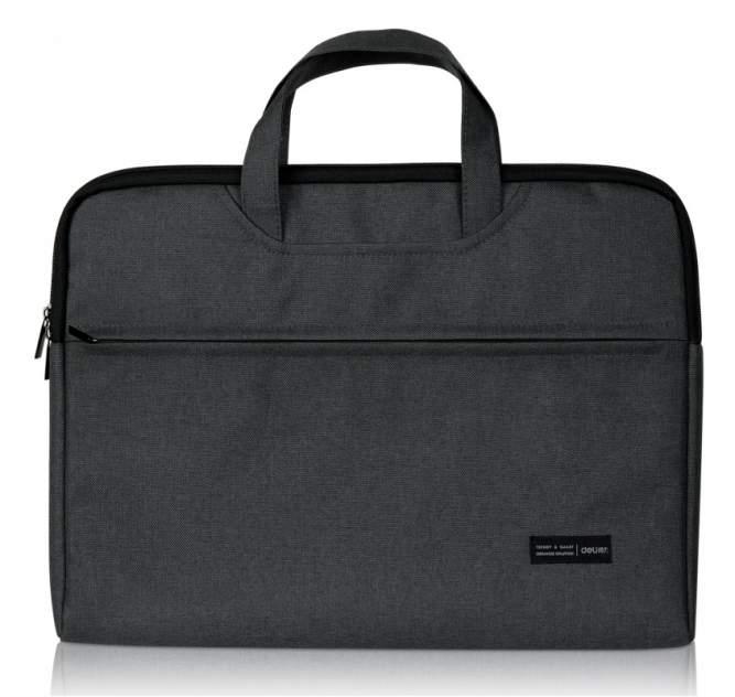Папка-портфель Deli 5590 серый