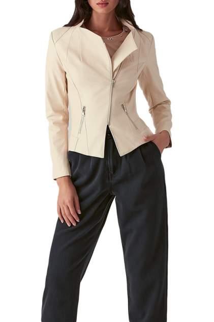 Кожаная куртка женская LOVE REPUBLIC 357502105 бежевая 40