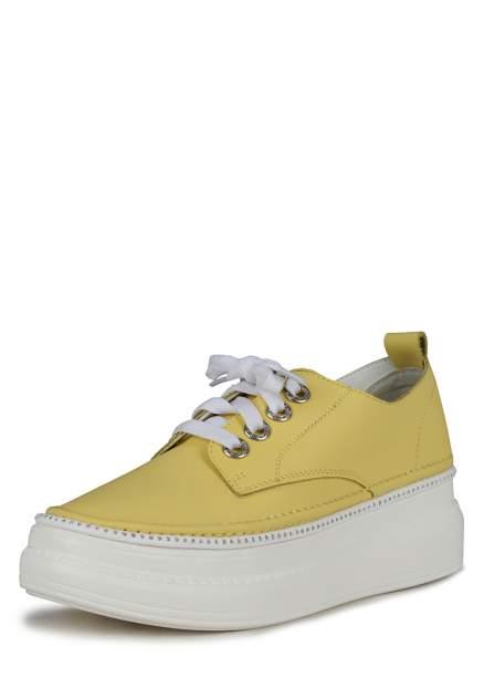 Кеды женские Alessio Nesca K0611LC-1C желтые 37 RU